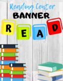 """Read"" Book Reading Center Banner"