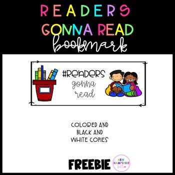 #ReadersGonnaRead Bookmark FREEBIE