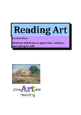 """Reading Art"". Lesson Plan, Activities, Printable Worksheet."