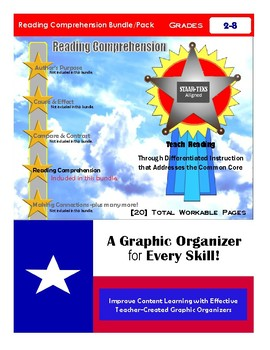 """Reading Comprehension Bundle Pack"" STAAR-TEKS Aligned"