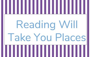 """""""Reading Will Take You Places"""" Classroom Banner"""