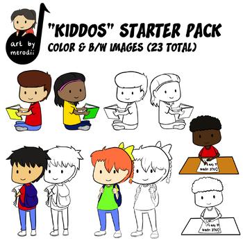 """Ready for School"" Kiddos Starter Pack Clip Art (FREEBIE)"