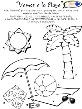"""""""Ready for Summer"""" Activity (Fill-in-the-Blank, Color & Label, Crossword Puzzle)"""