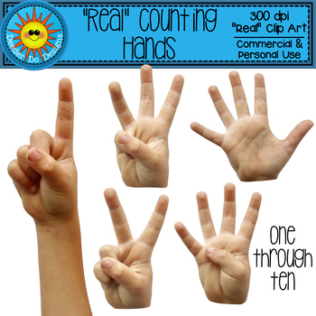 """Real"" Counting Hands Clip Art"