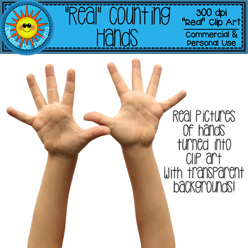 """""""Real"""" Counting Hands Clip Art"""