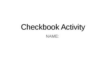 """Real World"" Checkbook Activity"