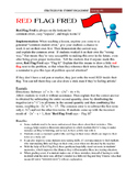 """""""Red Flag Fred""""  Student Engagement Strategy #8"""