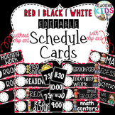 {Red, White, Black} EDITABLE Class Schedule