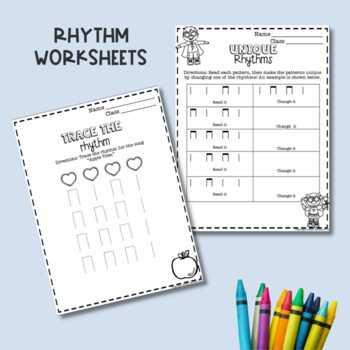 No Prep Ta and Ti-Ti Music Worksheets
