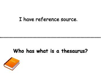 """"""" Reference Materials"""" I have...Who has?"""