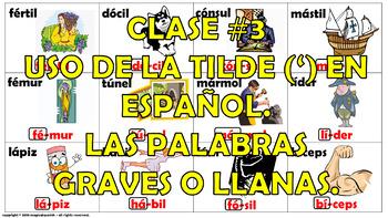 """""""Reglas de acentuación en español (3)"""" How to mark the gra"""