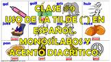 Clase #9. La Acentuación en español. Los Monosílabos y los