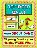 """""""Reindeer Ball!"""" - Holiday Word Wall Rhyming Game w/ 15 Word Wall Cards"""