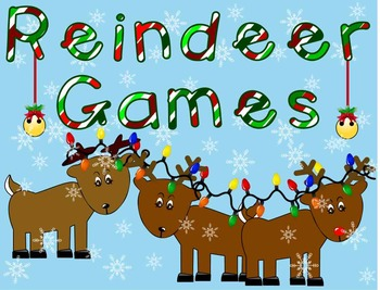 *** Reindeer Games *** Counting * Holiday * Task Cards * W