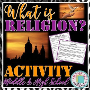 """""""Religion Talk"""" Anticipation Activity for Middle and High"""