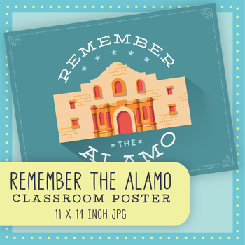 """Remember the Alamo"" Texas History Classroom Poster"