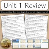 [Remote Friendly] APES Unit 1 Exam Review Modified True Fa