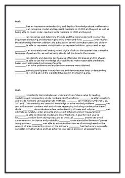 ~Report comment- Math Grade 2/3 'A' STUDENT semester 1 &2