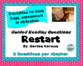 """Restart"" by Gordon Korman - 90 multiple choice reading comprehension questions"