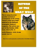 """Return of the Gray Wolf""  National Geographic Explorer! magazine. Oct 2008"