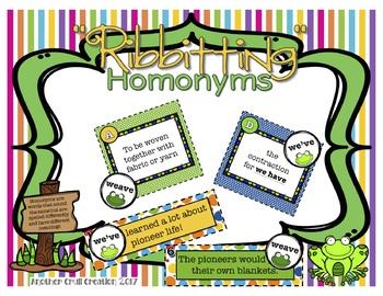 """""""Ribbitting"""" Homonyms"""