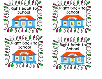 """""""Right Back To School!"""" Folder Labels"""