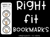 """Right Fit"" Bookmarks"