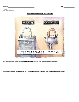 """""""Right to Water"""" - Discussing Flint, Michigan in the Classroom"""