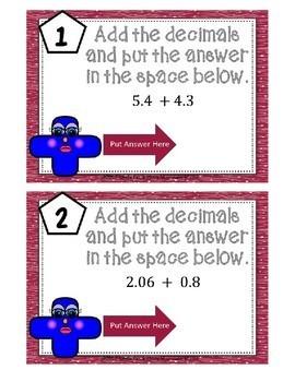Adding and Subtracing Decimals Boom Cards--Digital Task Cards
