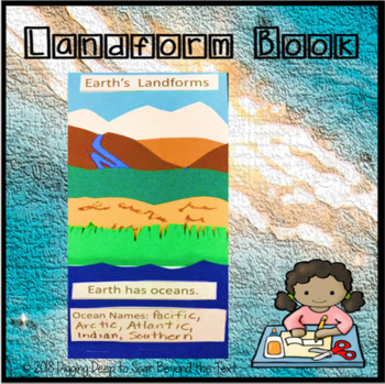 Earth's Landform Foldable Craftivity
