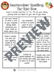 Monthly Spelling Tic-Tac-Toe Boards for any list