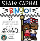 United States and Capitals BINGO! 32 Different Cards!