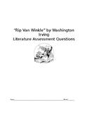 """Rip Van Winkle"" Literature Test Questions (Keystone)"
