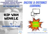 """Rip Van Winkle"" by W. Irving *ONLINE* (BOOM CARDS) Readin"