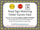 """Road Sign Matching"" Folder Games Pack"