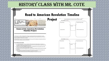 """""""Road to Revolution"""" Timeline Project"""