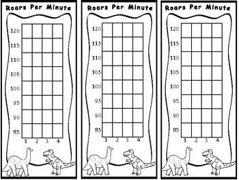 """Roars"" Per Minute- WPM Dinosaur Bookmark Tracker"