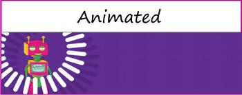"Google Classroom Animated Theme ""Robot"""