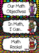 """Rock Star"" Theme First Grade MATH ""I Can"" Statements"