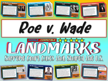-Roe v. Wade- Landmark Supreme Court Case (PPT, handouts & more)