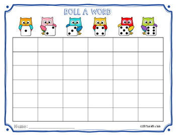 """""""Roll a Word/Roulez Un Mot"""" Sight Word Practice for English and French"""