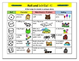 Roll and Write Fun Writing Activity pick your own story li