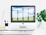 """Rolling Hills"" Desktop Organizer (customizable)"