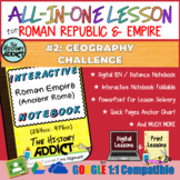 ⭐Roman Civilization Geography ISN & Distance Learning Lesson Set⭐