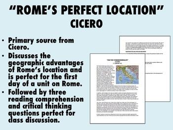 """Rome's Perfect Location"" - Cicero - Global/World History"