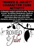 """Romeo & Juliet"" Character Cube Activity"