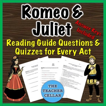 """""""Romeo & Juliet"""" Study Guide Questions for Every Scene with Answer Key!"""