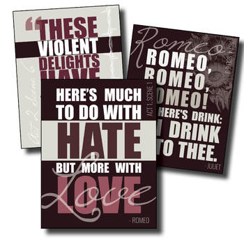 {Romeo and Juliet} Key Quotes POSTERS