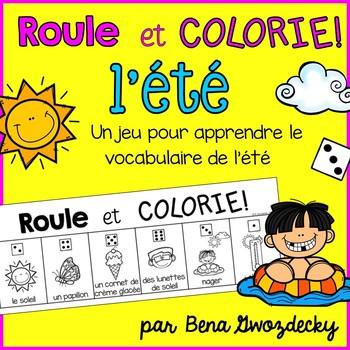{Roule et Colorie: L'été!} A French vocabulary game