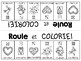 {Roule et Colorie: La Saint Valentin!} A French Vocabulary Game